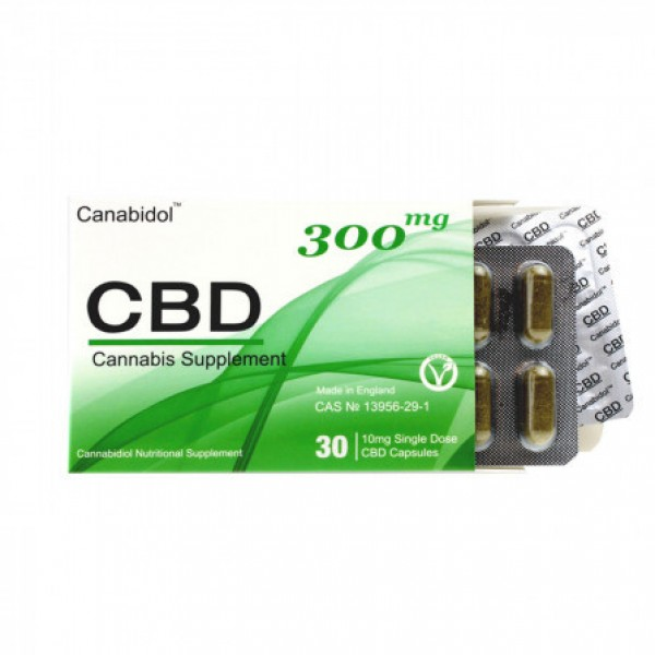 Canabidol CBD03001 300mg Cannabis Supplement 30 Capsules