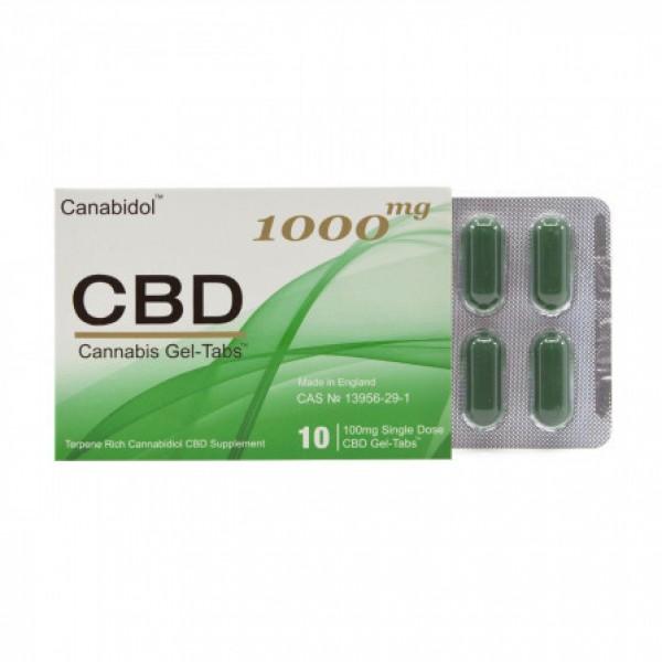 100% Canabidol GEL-TABS 1000mg
